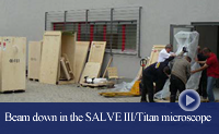 The SALVE III / Titan microscope arriving at CEOS GmbH in Heidelberg