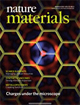 thumbnail-nature materials front-cover showing graphene grid and simulated electron distribution