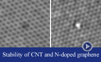 thumbnail-2 TEM iamges demonstrating vacancy production in n-doped graphene
